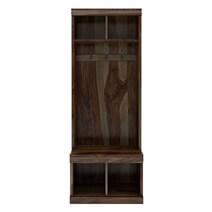 Coleridge Rustic Solid Wood Entryway Hall Tree With Shoe Storage