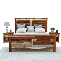 Eunola Handcrafted Solid Reclaimed Wood Platform Bed