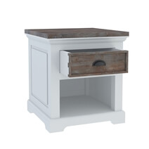 Danville Modern Teak and Solid Wood 1 Drawer End Table