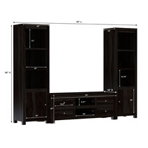 Glencoe Solid Wood Contemporary Entertainment Media Center