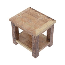 Britain Handcrafted Rustic Teak Wood 2 Tier End Table