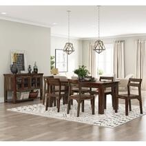 Modern Sierra Solid Wood 8 Piece Dining Room Set
