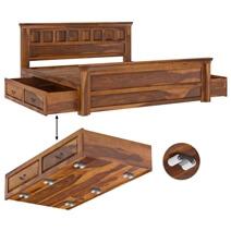 Simply Tudor Rustic Solid Wood 4 Piece Bedroom Set