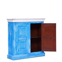 Blue City Reclaimed Wood Handcrafted Kitchen Storage Cabinet