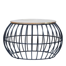 Anaheim Industrial Solid Wood Round Coffee Table