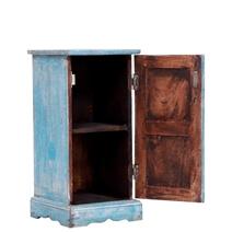 Antonio Sea-Foam Blue Hand-painted Distress Reclaimed Wood Nightstand