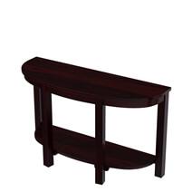 Murrieta Two-Tier Half-Moon Rustic Solid Wood Entryway Console Table