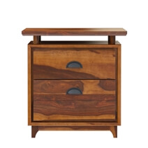 Hondah Rustic Solid Wood 2 Drawer File Cabinet