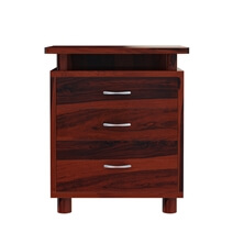Picacho Solid Wood File Cabinet With 2 Drawers And Open Shelf