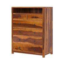 Kodiak Rustic Solid Wood 6 Drawer Tall Bedroom Dresser