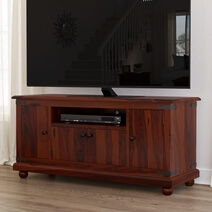 Kokanee Rustic Solid Wood TV Stand & Media Cabinet With Storage