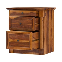 Ansonville Rustic Solid Wood 3 Drawer File Cabinet