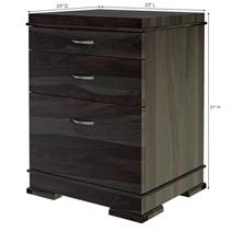 Blanford Modern Rustic Solid Wood 3 Drawer File Cabinet