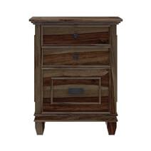 Klagetoh Rustic Solid Wood 3 Drawer File Cabinet