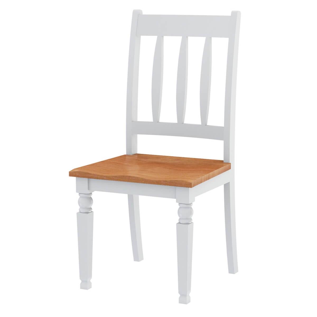 Ruston Two Tone Mahogany Wood Dining Chair