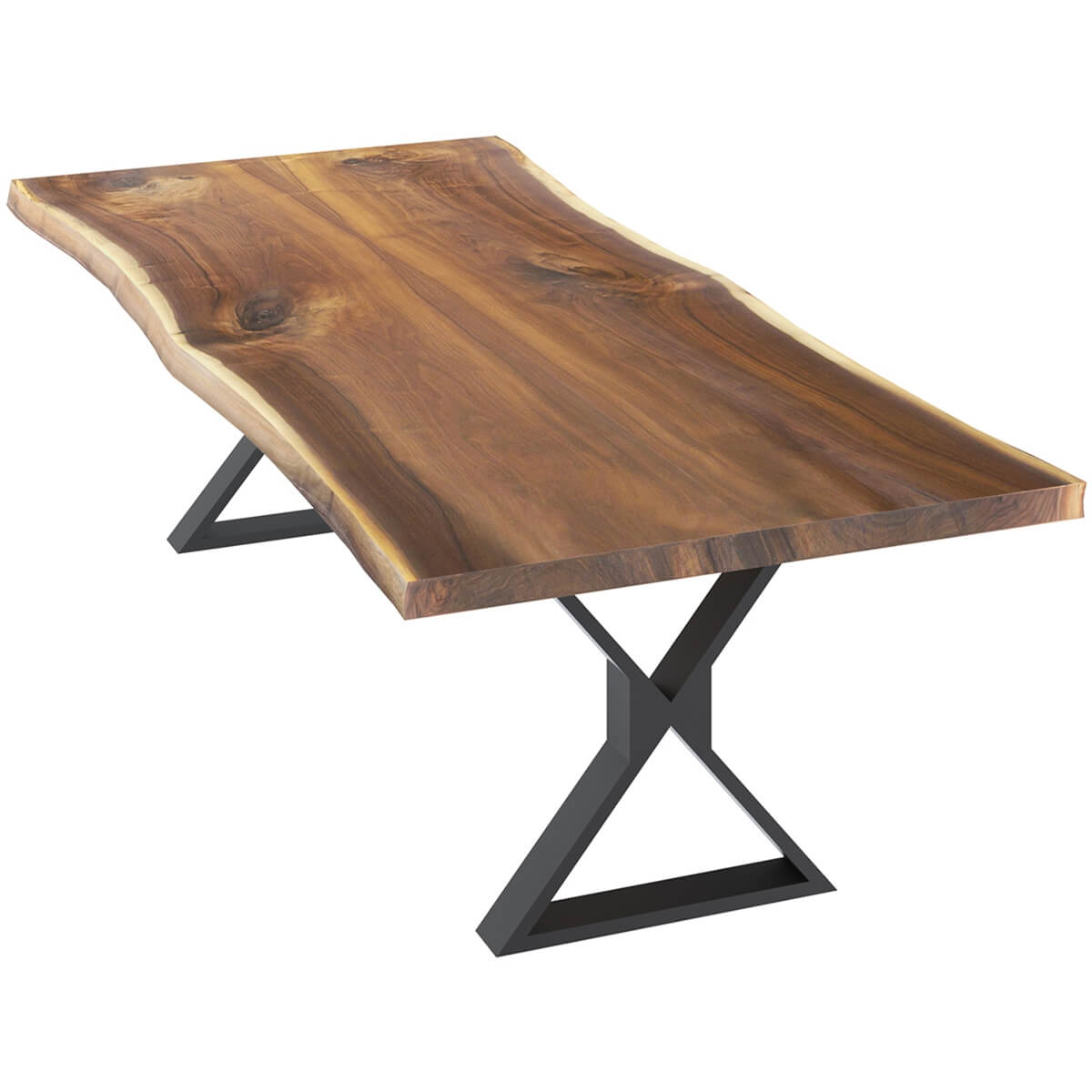 Laconia Solid Wood Handcrafted Live Edge Dining Table