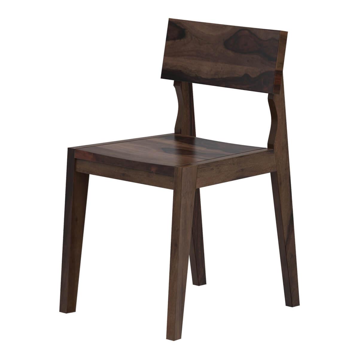 Petaluma Modern Rustic Solid Wood Dining Chair