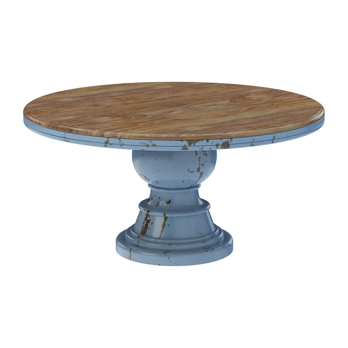 Picture of: Nauvoo Farmhouse Solid Wood Pedestal Round Dining Table Chair Set