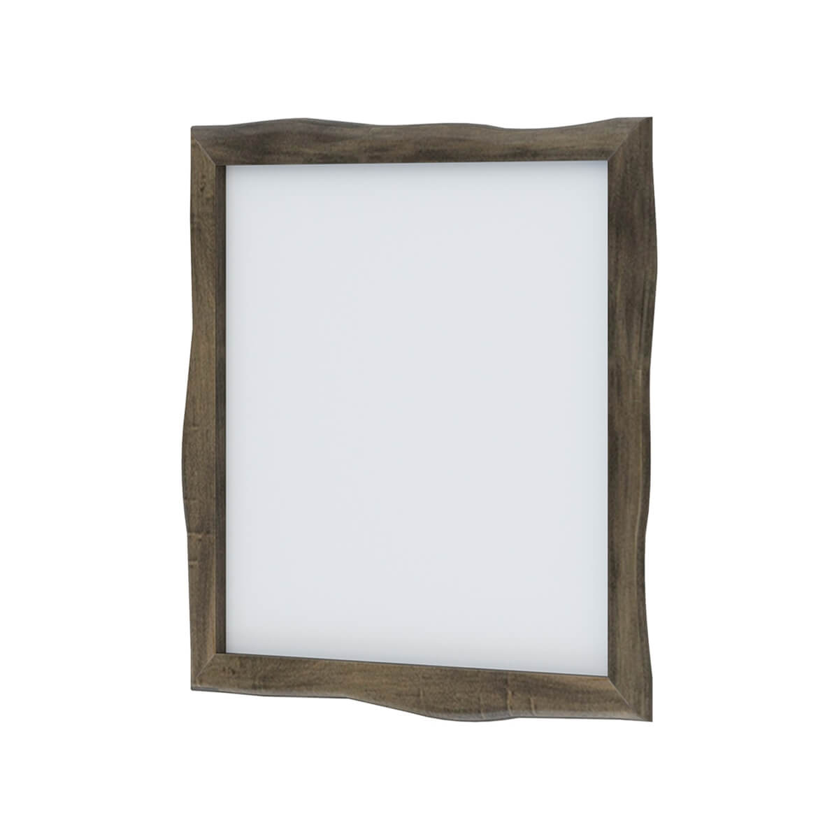 Ambler Mahogany Wood Live Edge Square Mirror Frame