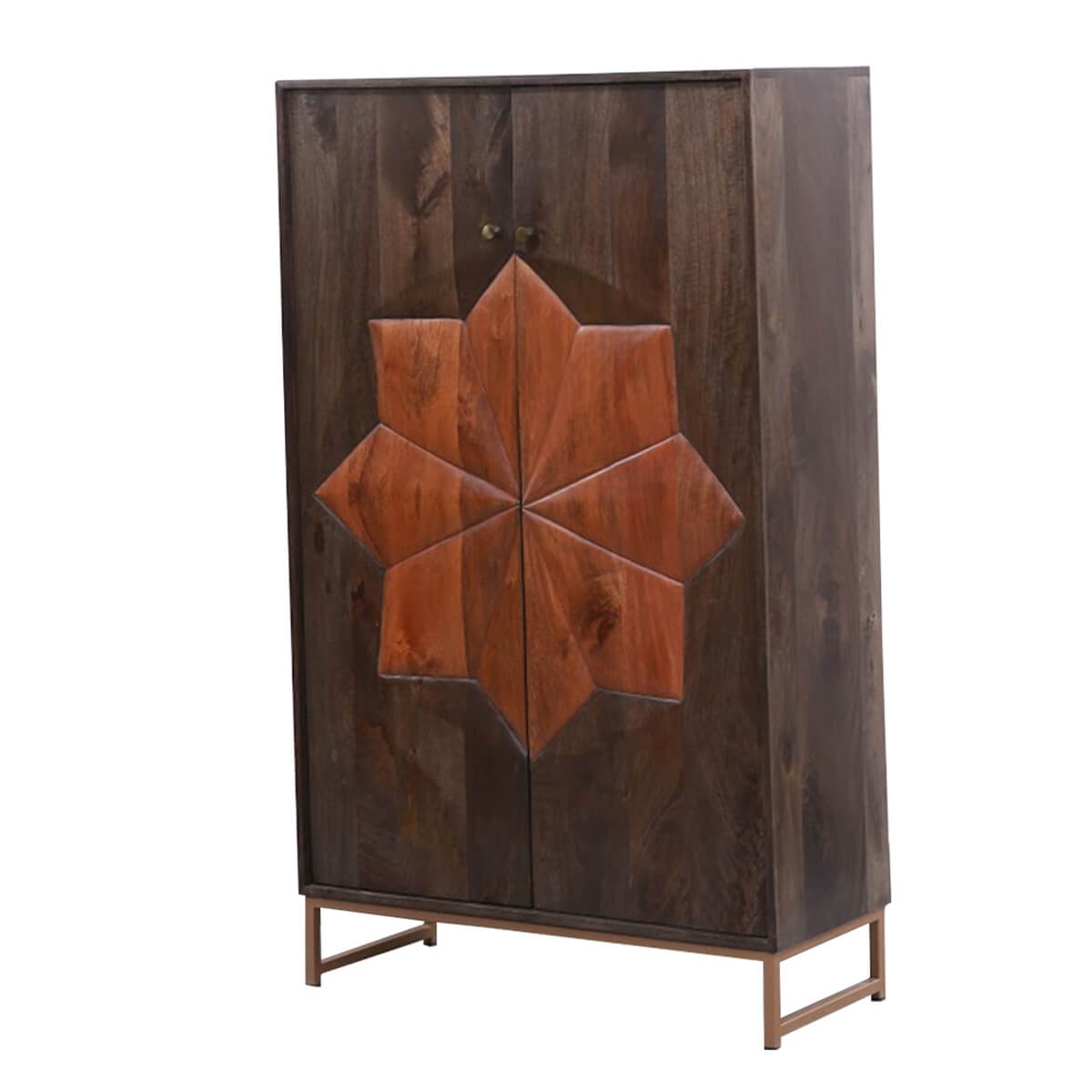 Newquay Rustic Solid Wood 2-Tone Modern Armoire