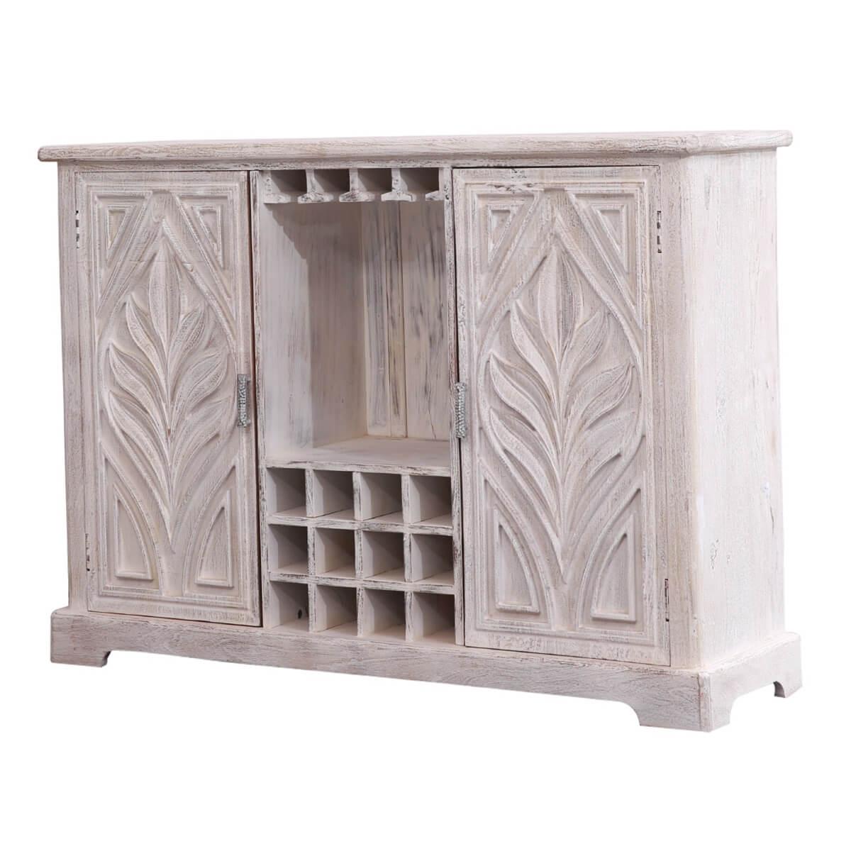 Allerdale Farmhouse Rustic Solid Wood Door Bar Sideboard Cabinet