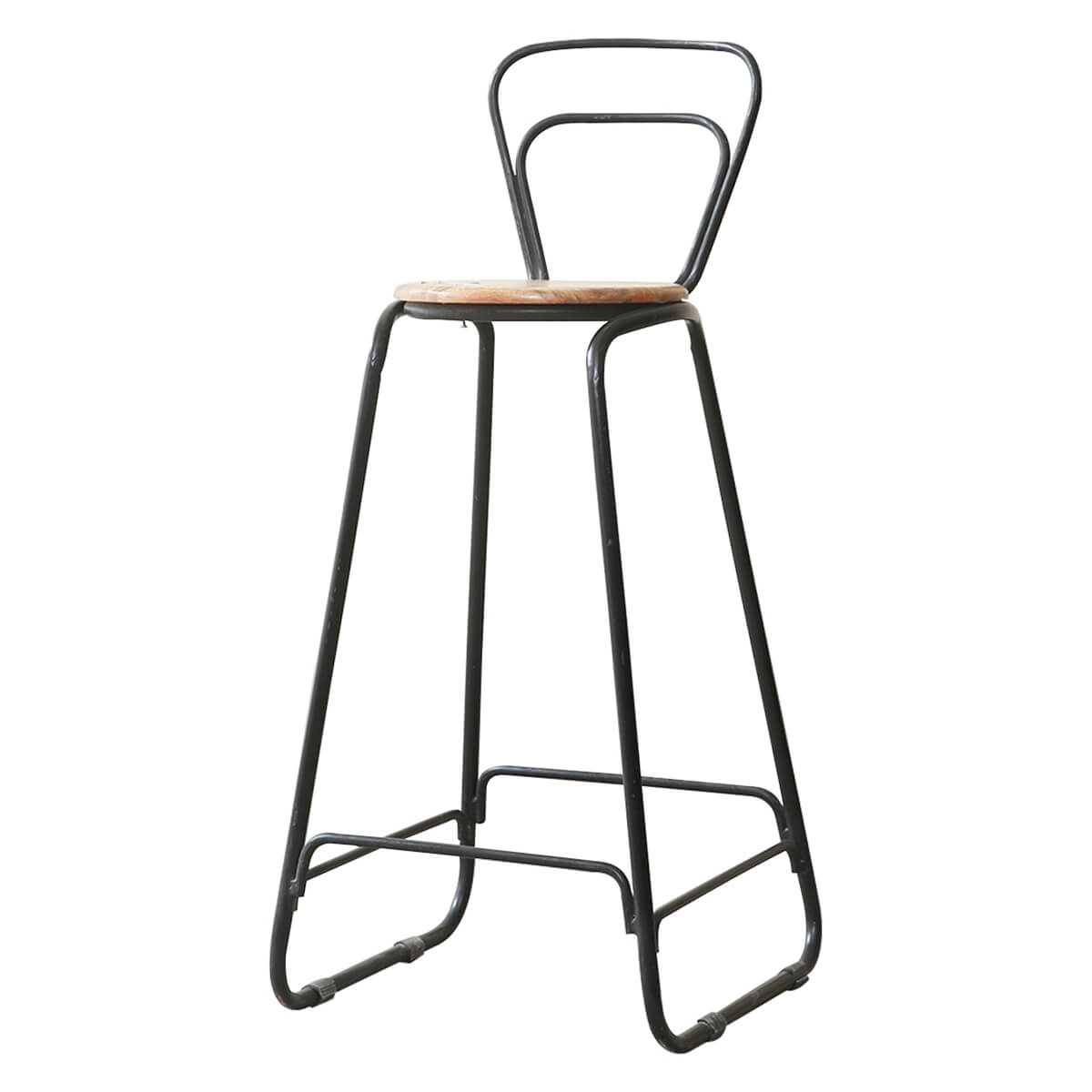 Pescia Solid Wood Industrial Accent Bar Chair