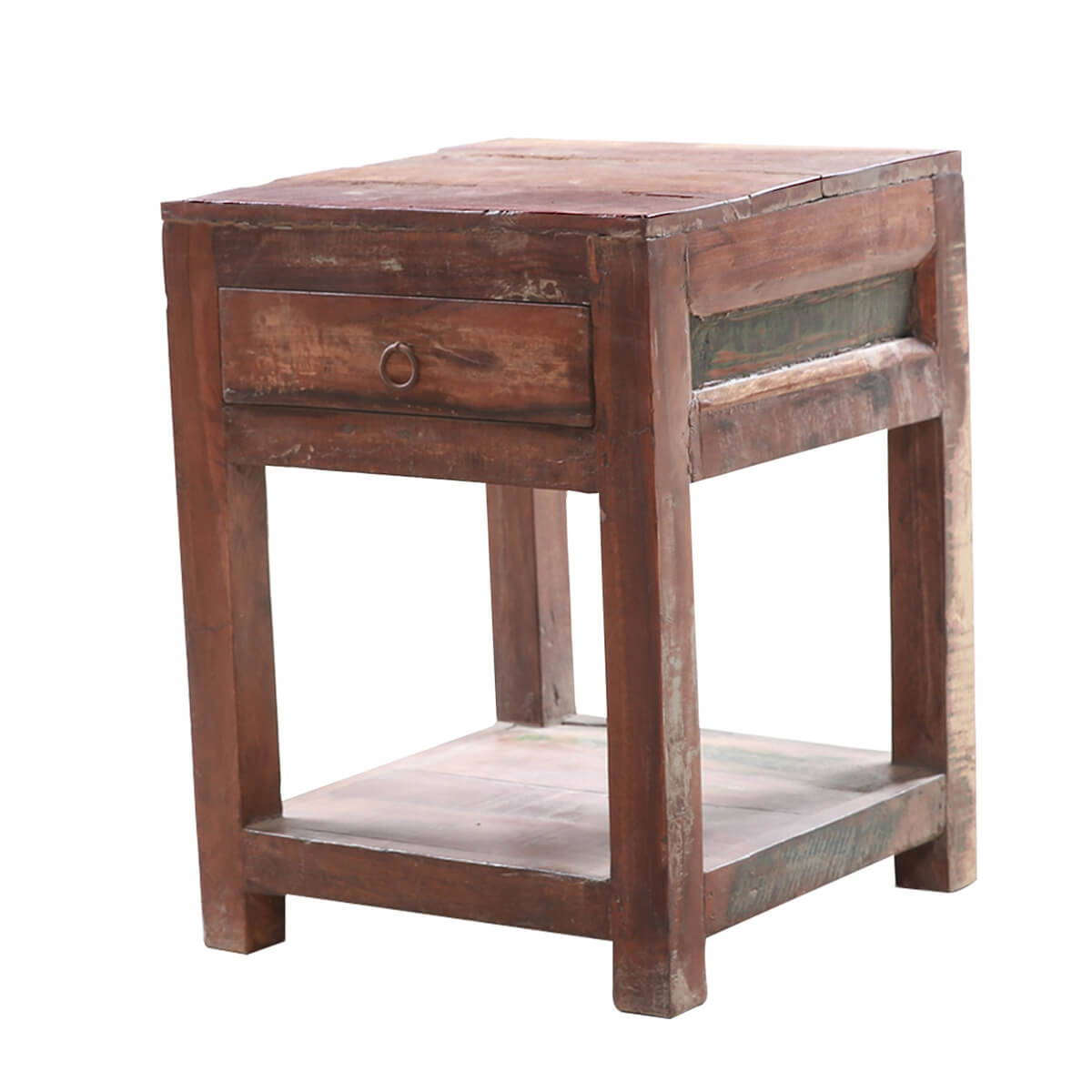 Sicily Rustic Solid Wood 1-Drawer End Table