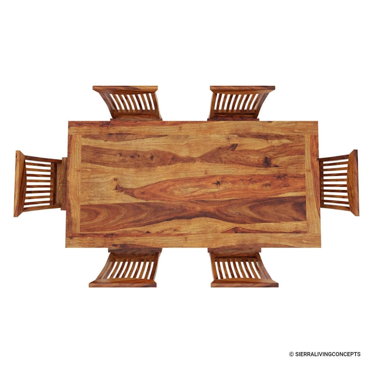 Rustic Modern Wood Dining Chair: Idaho Modern Rustic Solid Wood Dining Table & Chair Set