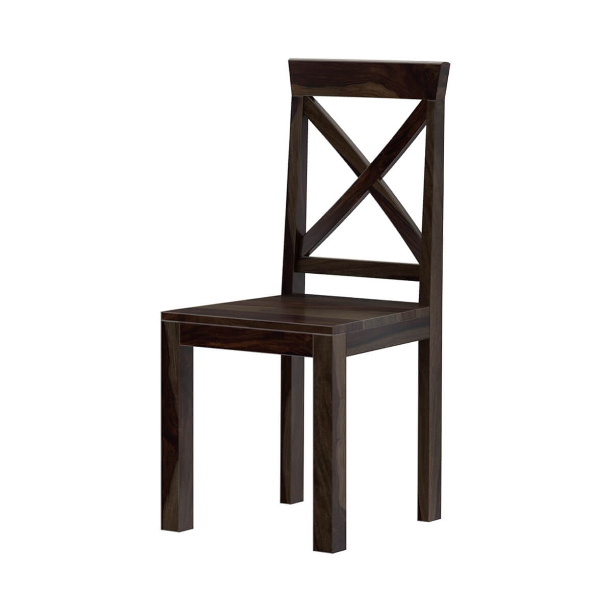 Traditional X Back Solid Wood Rustic Kitchen Dining Chair