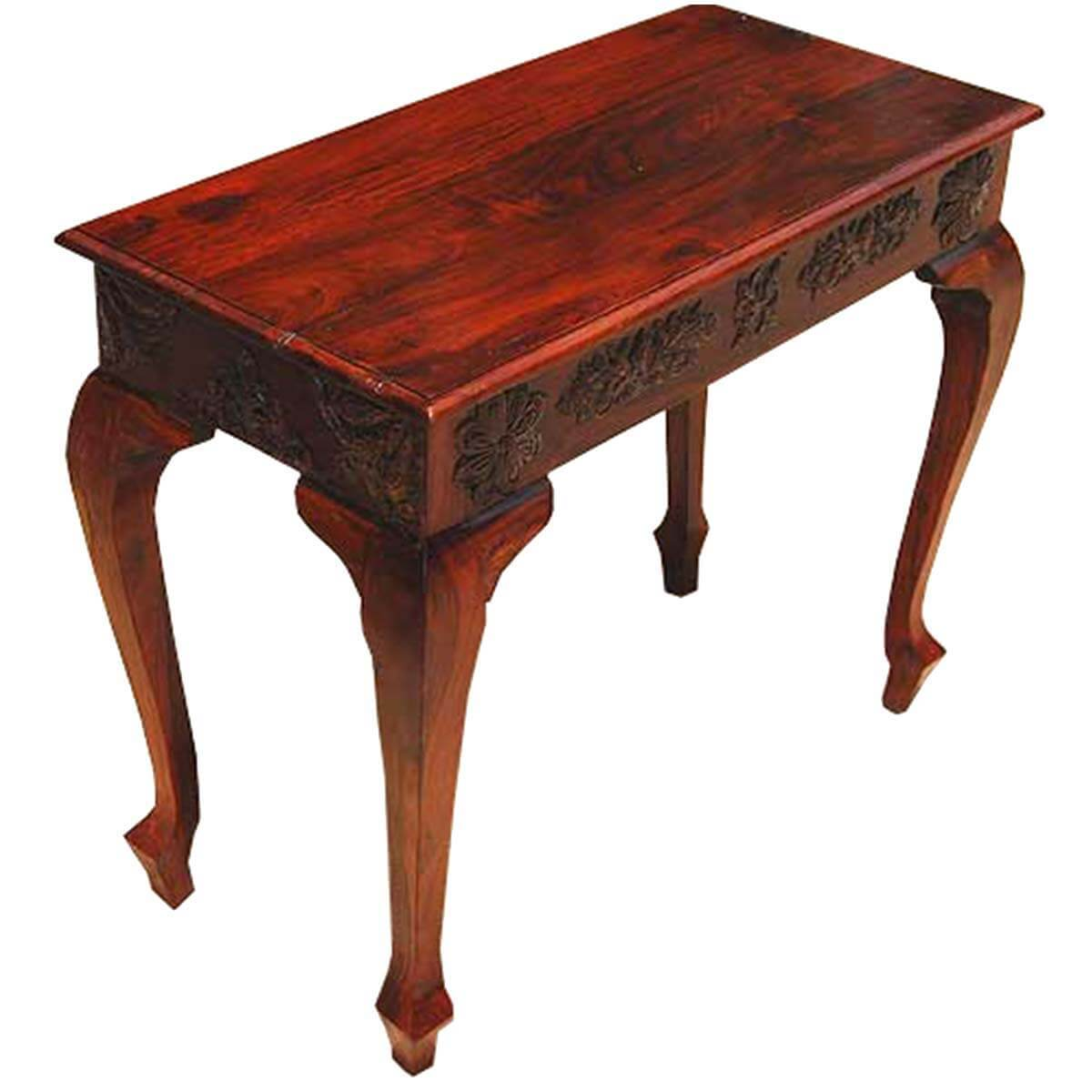 Queen Anne Style Wood Console Foyer Entry Way Table NEW