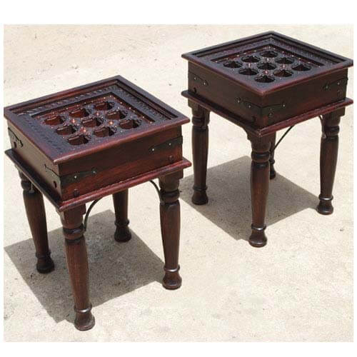 Heritage 9-Square 2pc End Table Set