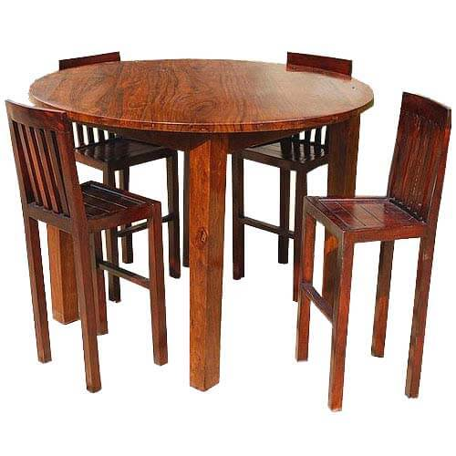 Counter High Round Table.Nevada 5 Pc Contemporary Counter Height Round Dining Table Chair Set
