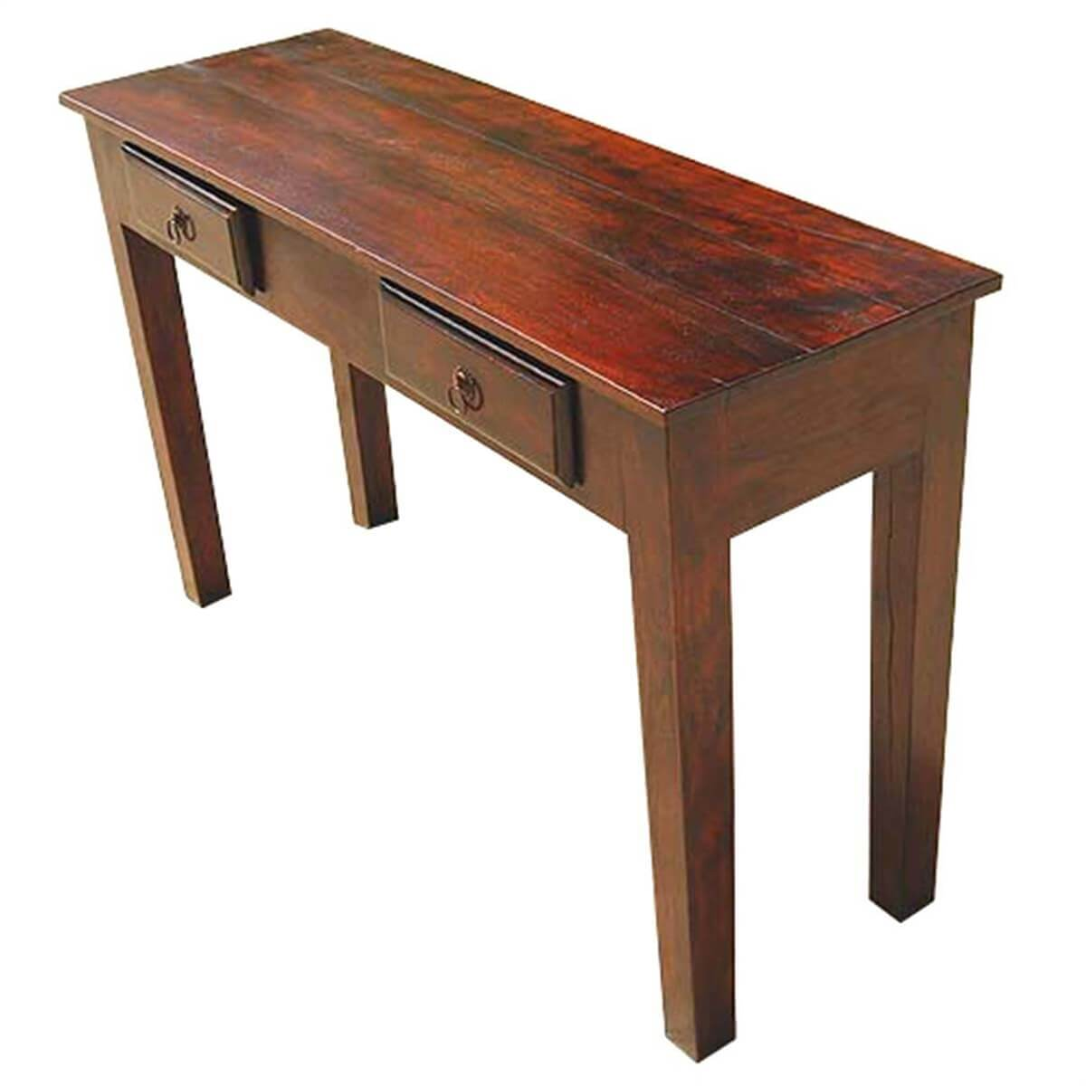 Wood Storage Drawers Console Hall Entry Way Foyer Table