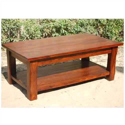 Large Rustic Wood Occasional Cocktail Coffee Table