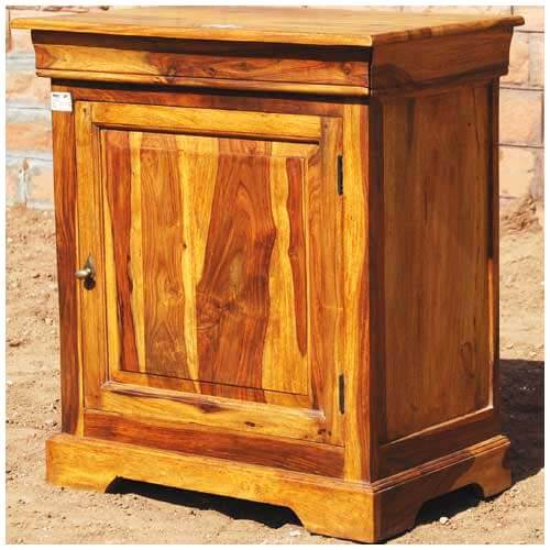 Large Solid Wood Storage Cabinet Night Stand Bed Side Table