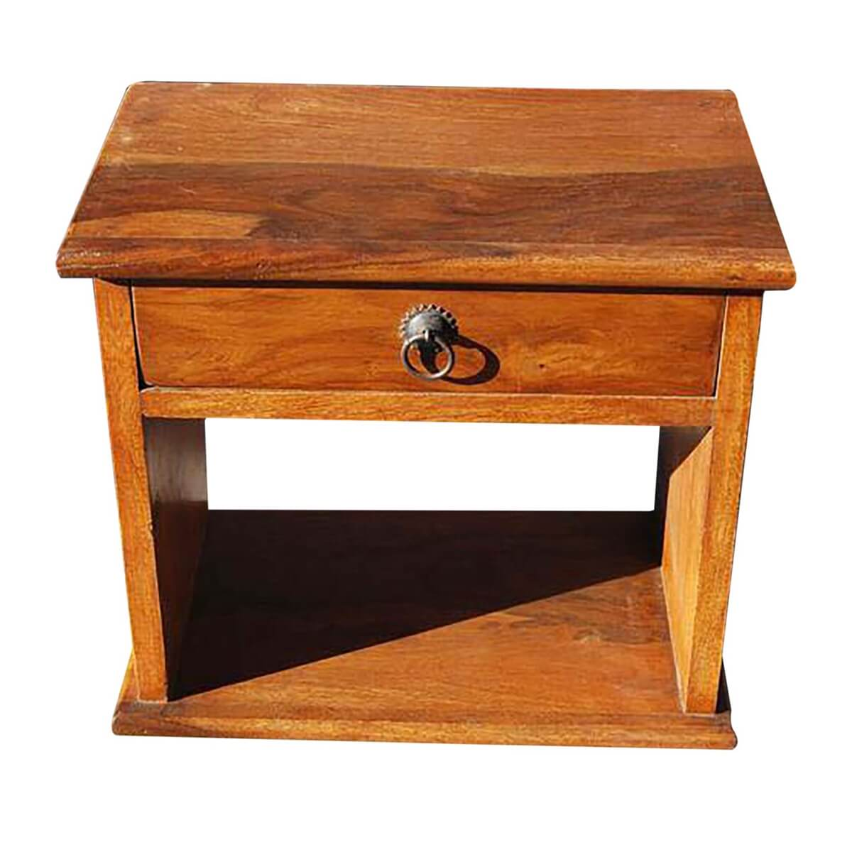 Simple 1 Drawer Low Height Side Bedside End Table