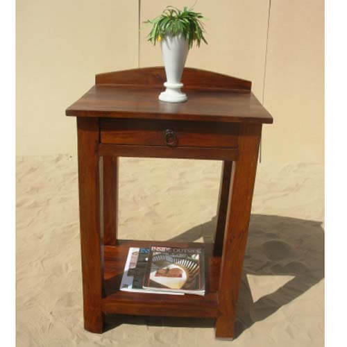 Kinnelon Solid Wood 2 Tier 1 Drawer End Table