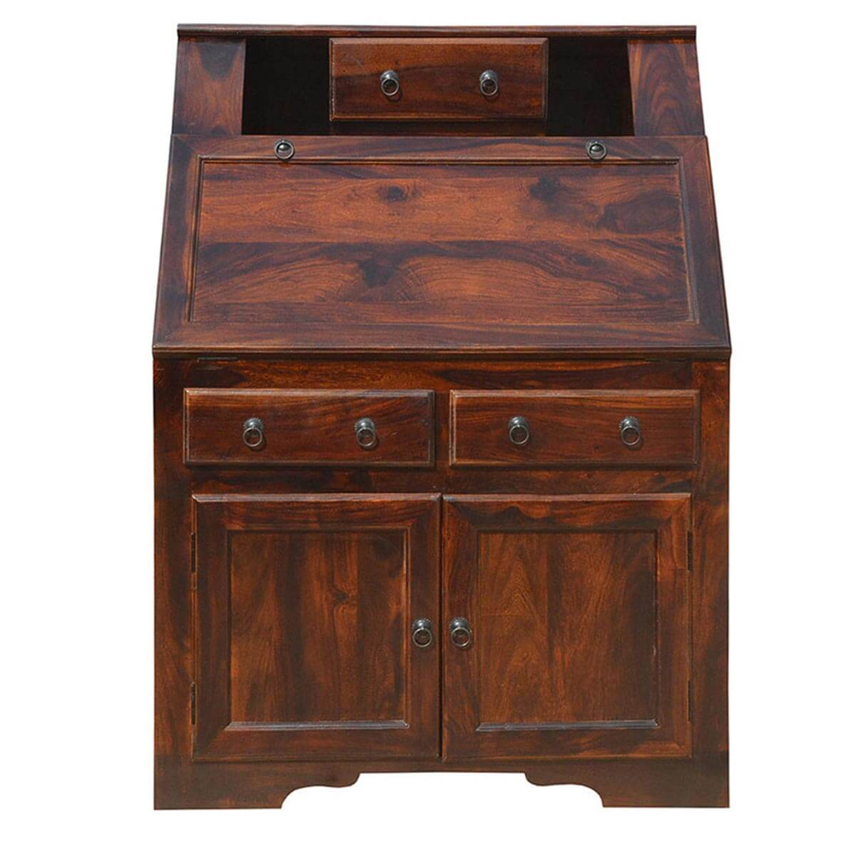 Colonial Natural Solid Wood Drop Front Home Office
