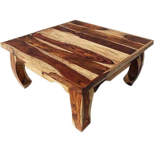 Dallas Natural Solid Wood 35 Square Opium Coffee Table