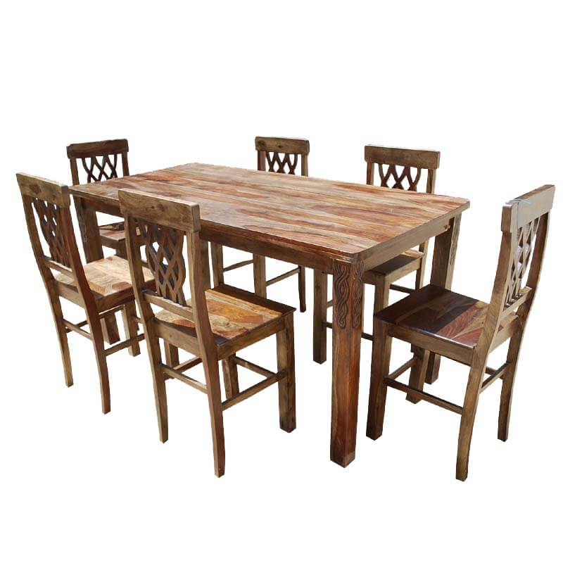 Portland Pineapple Back Counter Height Transitional Dining Set