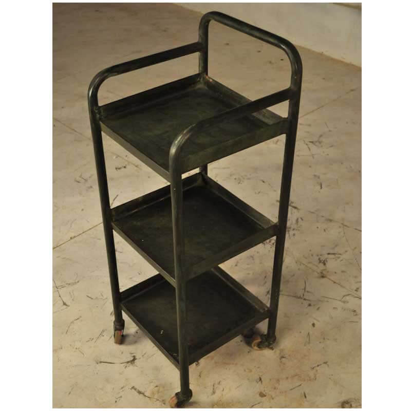 Rosarito Iron 3 Tier Industrial Rolling Kitchen Cart