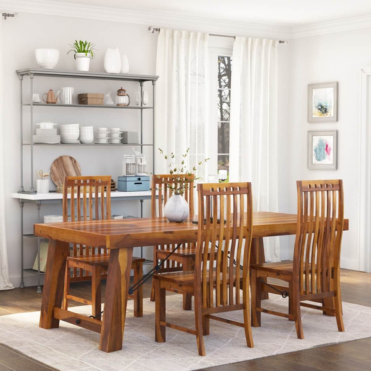 Merveilleux Lincoln 5pc Transitional Dining Room Table U0026 Chair Set. Hover To Zoom