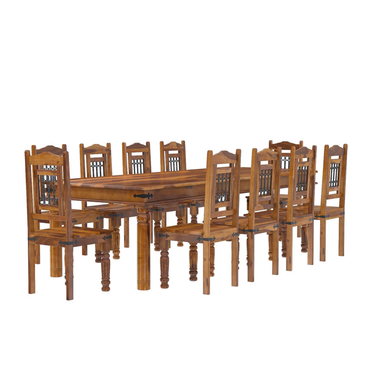 Dining Set For 10: San Francisco Rustic Furniture Large Dining Table With 10