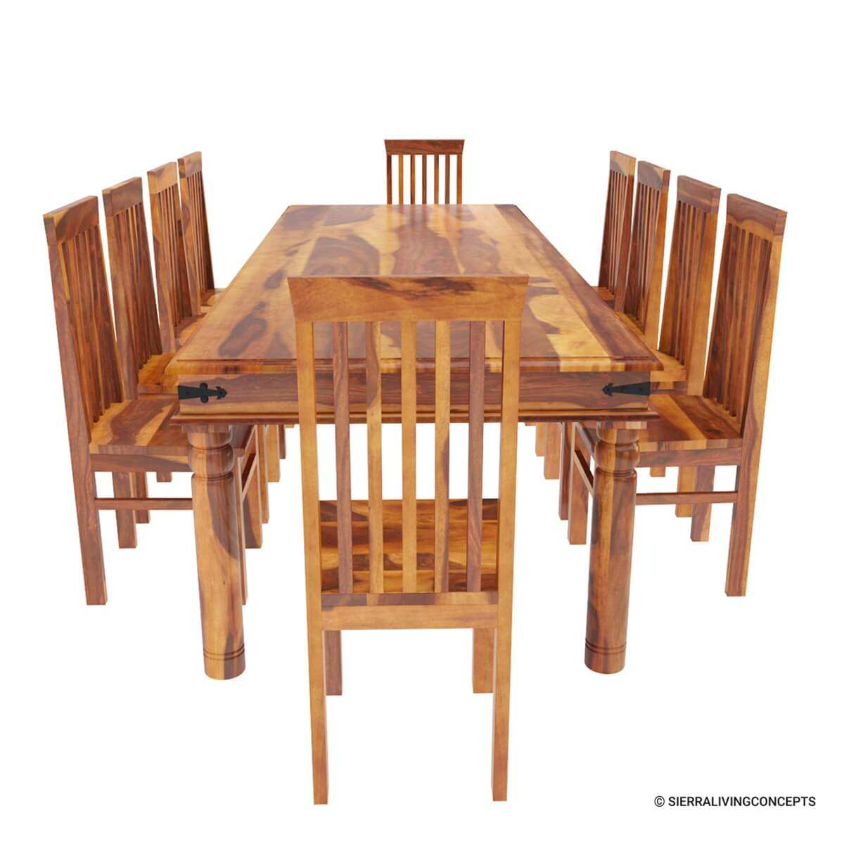 Huge Dining Room Tables: Rustic Lincoln Study Large Dining Room Table Chair Set For