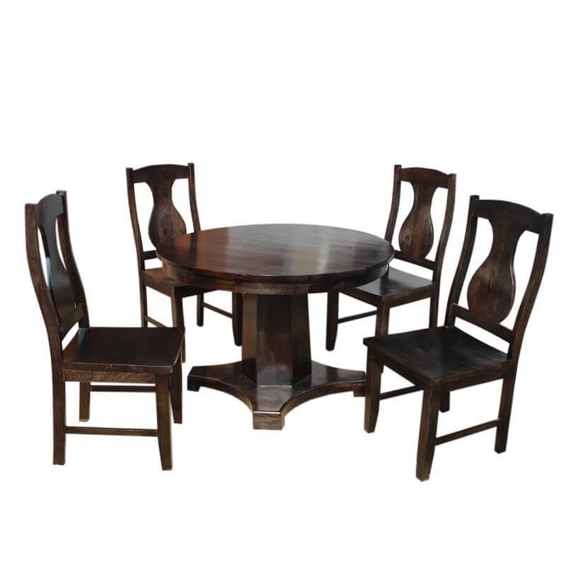 Lincoln Study Round Contemporary Pedestal Dinette Set