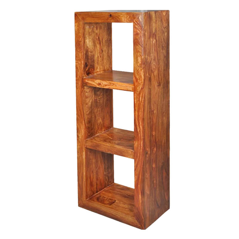 Portland Contemporary Solid Wood 54'' 3 Section Bookcase