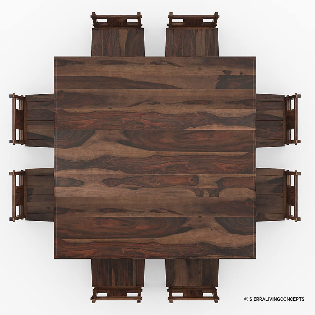 Oversized Dining Room Chairs: Richmond Rustic Solid Wood Large Square Dining Room Table