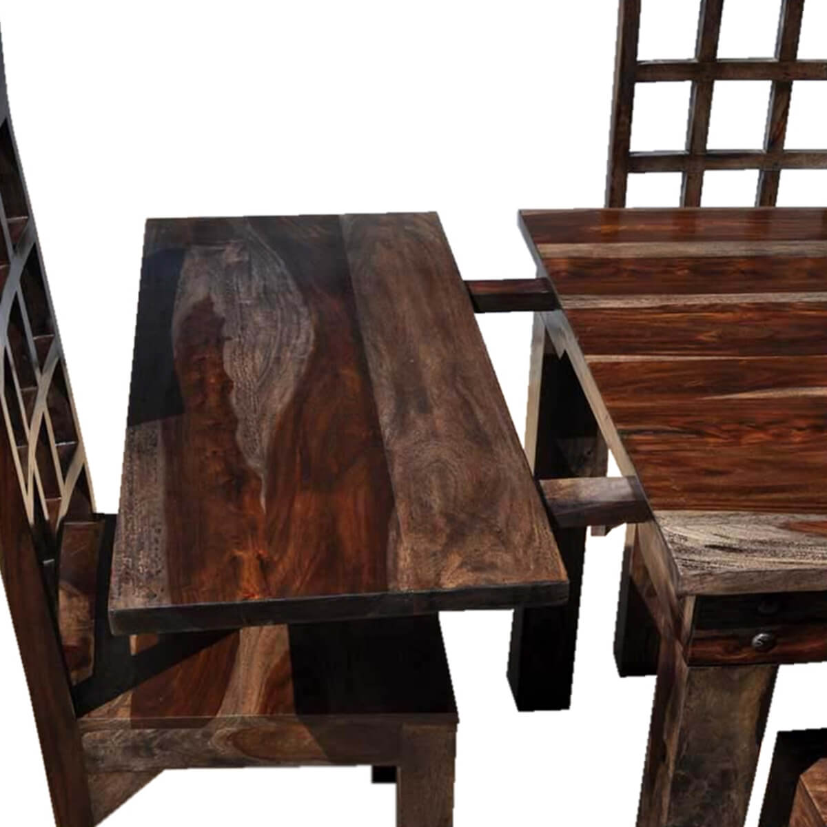 Rustic Chairs For Dining Room: Portland Rustic Furniture Extendable Dining Room Table