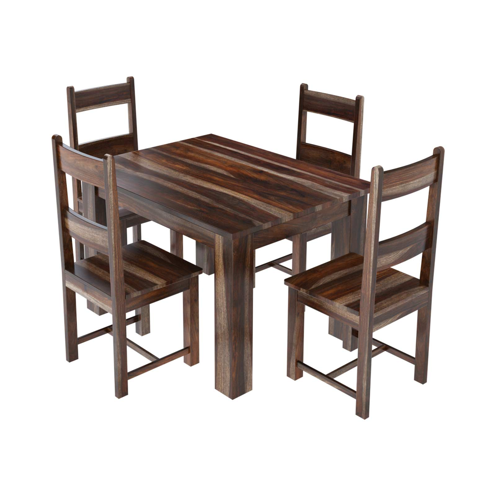 Rustic Dining Table And Chairs: Alabama Modern Rustic Solid Wood Dining Table And Chair Set