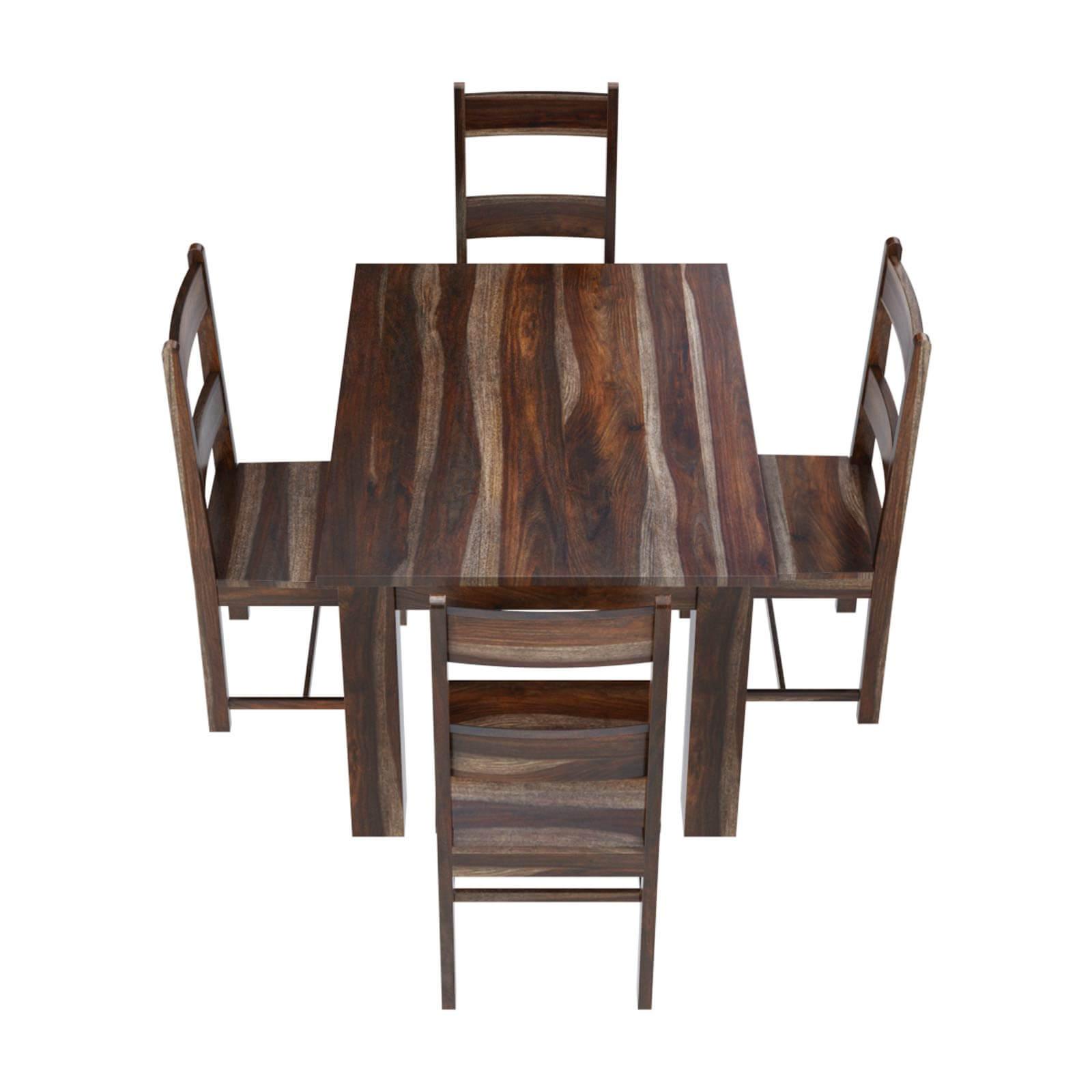Rustic Modern Wood Dining Chair: Alabama Modern Rustic Solid Wood Dining Table And Chair Set